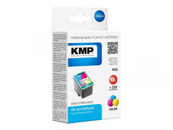 KMP Patrone HP C8766E Nr.343 color 550 S. H26 refilled