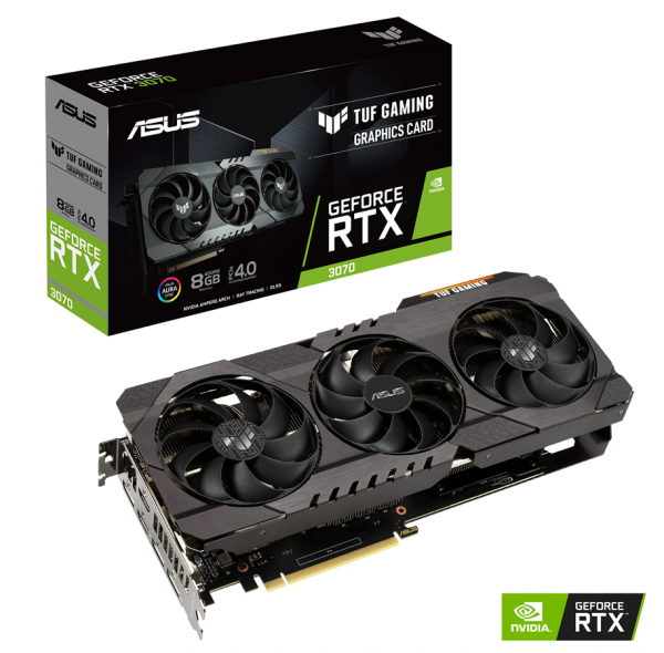 ASUS TUF-RTX3070-8G-GAMING (8GB,HDMI,DP,Active)