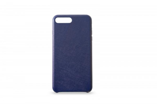 KMP Schutzhülle Apple für iPhone 8+ Leder Case blue