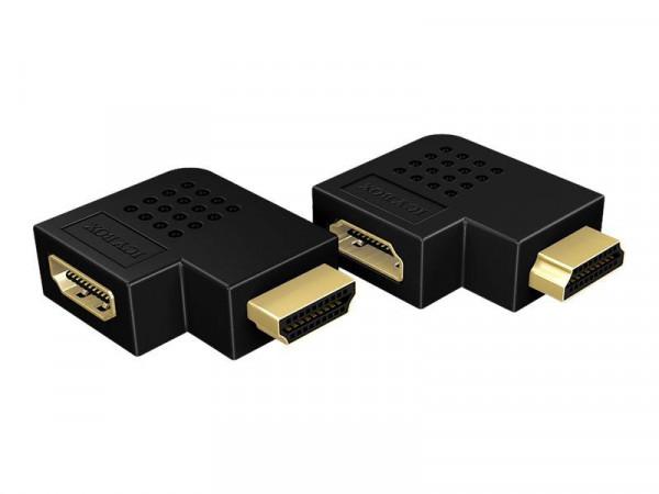 HDMI Adapter IcyBox HDMI Typ A -> HDMI Typ A St/Bu 270° (b)
