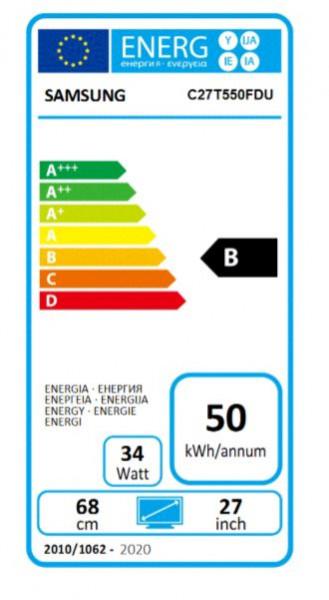 "Samsung Serie 5 68,4cm C27T550FDU 16:9 (27"") Blau/Schwarz"