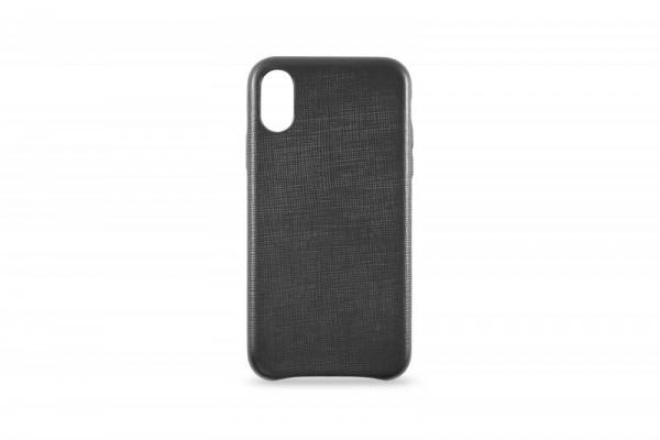 KMP Schutzhülle Apple für iPhone X Leder Case black