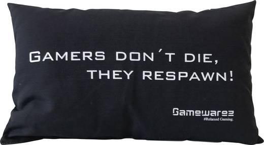 """Gamewarez Gaming Kissen """"GamersDontDie"""" schwarz"""
