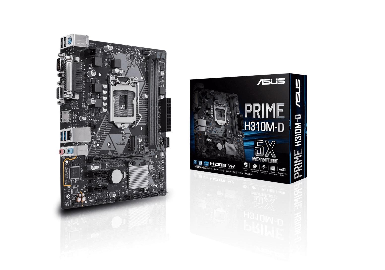 Mainboard ASUS PRIME H310M-D R2.0 (Intel,1151,DDR4,mATX