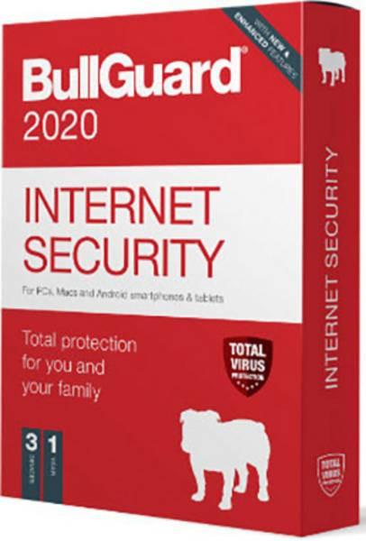 BullGuard Internet Sec.2020 1YR/3 Device Multi Device Retail