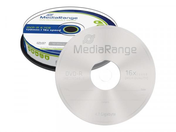 DVD-R MediaRange 4,7GB 10pcs Spindel 16x