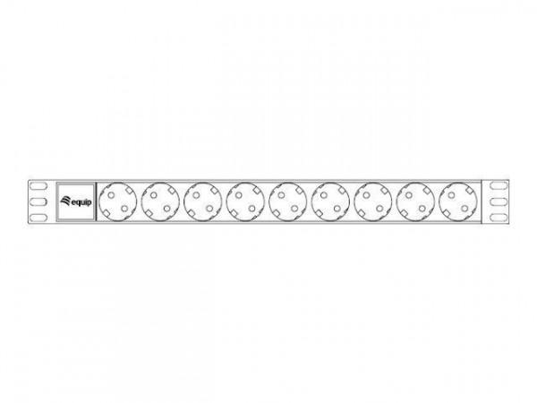 equip Stromverteilungseinheit (Rack - einbaufähig) - Wechselstrom 250 V - 3.5 kW - Ausgangsanschlüss