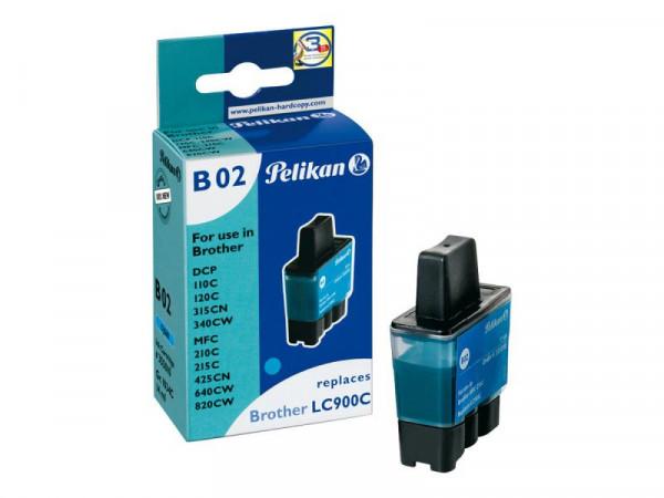 Pelikan B02 - 14 ml - Cyan - Tintenpatrone (Alternative zu: Brother LC900C)