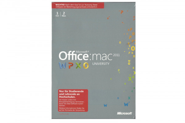 Office 2011 for MAC University DVD deutsch