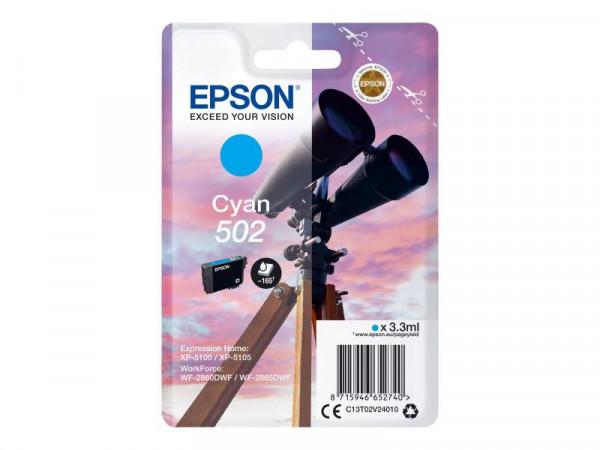 Patrone Epson 502 cyan 3,3 ml 165 Seiten