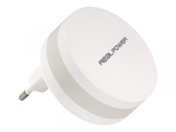 Powerbank RealPower PBC1800 mAh mit Stecker