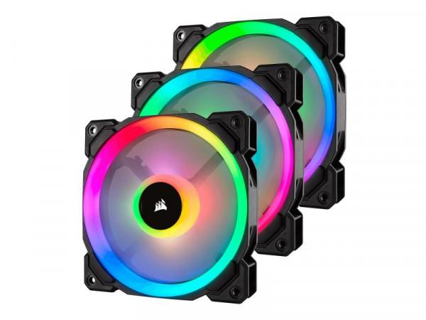 Corsair LL Series LL120 RGB Dual Light Loop - Gehäuselüfter - 120 mm - weiß, Blau, Gelb, Rot, grün,