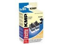 KMP B5D - 2er-Pack - 20 ml - Schwarz - Tintenpatrone (Alternative zu: Brother LC41BK, Brother LC900B