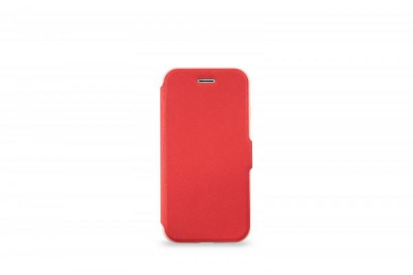 KMP Schutzhülle Apple für iPhone 8+ Bookcase rubin red