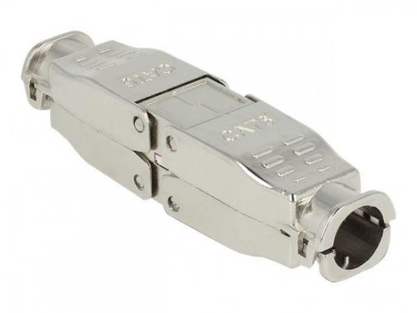 DELOCK Verbinder für Netzwerkkabel Cat6 STP werkzeugfrei