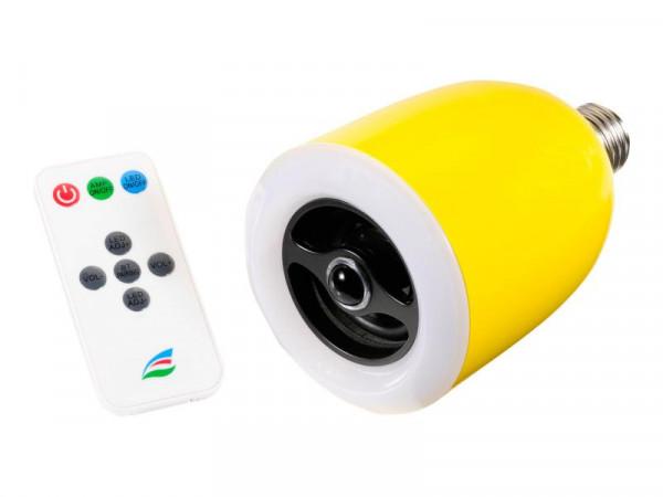 Aktivbox ultron boomer light gelb Bluetooth mit LED LampeE27