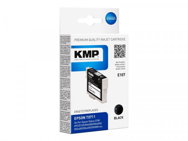 KMP Patrone Epson T0711 black 245 S. E107 remanufactured