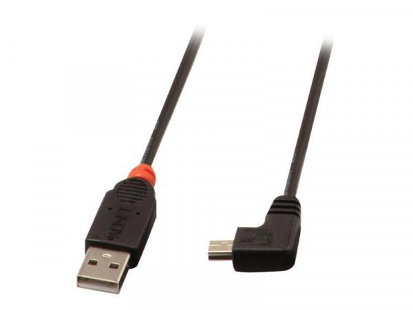 Lindy USB 2.0 Kabel Typ A/Mini-B 90° gewinkelt M/M 2m