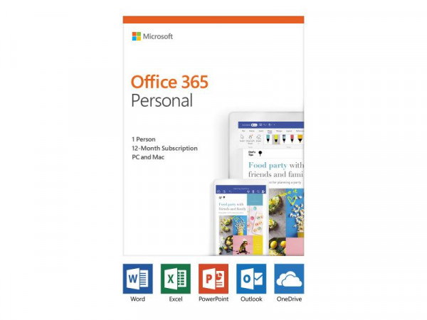 Office 365 Personal 32-bit/x64 Subscript. 1 Lic.1 Year dt.P4