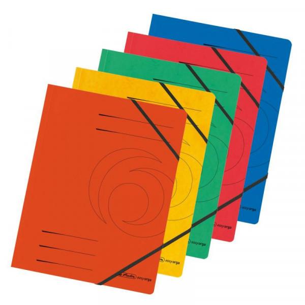 Herlitz Eckspanner A4 Colorspan farb.sort. 5er Packung