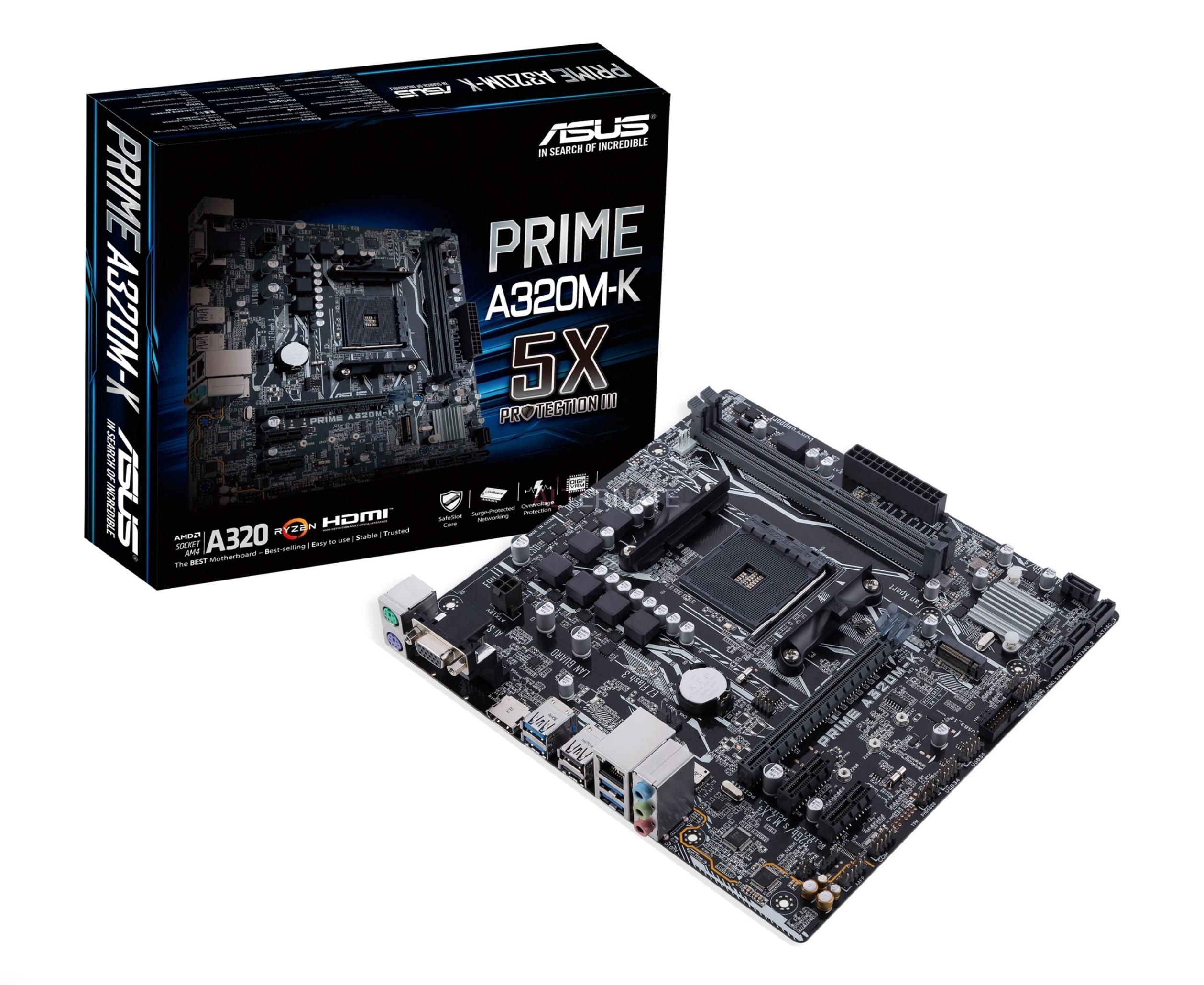 Mainboard ASUS PRIME A320M-K/CSM (AMD,AM4,DDR4,uATX)