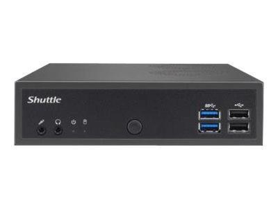 Shuttle Barebone slim DH02U 3865U SO-DDR4 black fanless