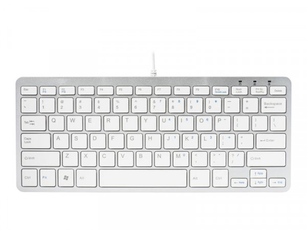 R-Go Compact-Tastatur Nordic-Layout weiß