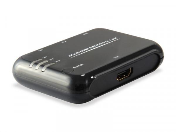 Equip Switch 3-fach HDMI 1.4 DVI1.0 CTS 1.4 3D 4Kx2K schwarz