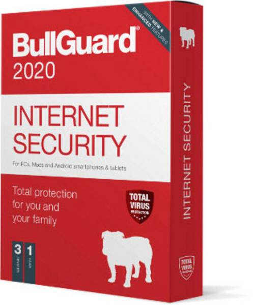 BullGuard Internet Security 2020 1J/3 Geräte Windows only