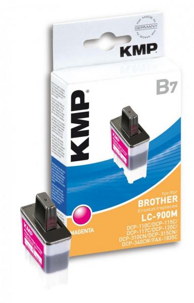 KMP Magenta - Tintenpatrone (Alternative zu: Brother LC41M, Brother LC900M)