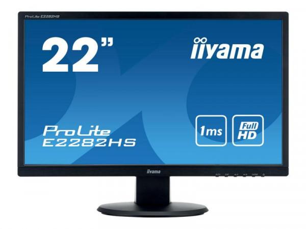 """IIYAMA 54.6cm (21,5"""") E2282HS-B1 16:9 DVI+HDMI bl.LED"""