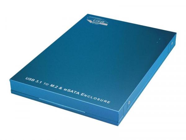 Gehäuse IcyBox USB 3.1 6,3cm 1x M.2 SATA o. 1x mSATA SSD