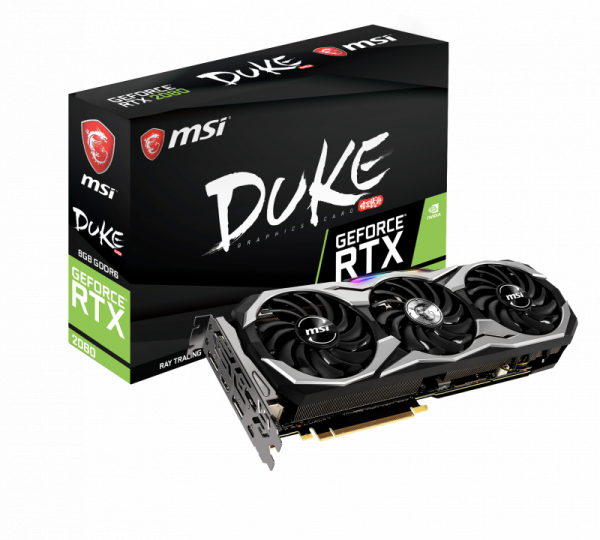 PCIe MSI GEFORCE RTX 2080 DUKE 8G OC 8GB