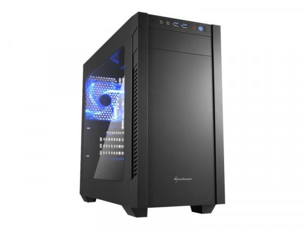 Sharkoon Gehäuse S1000 Window Mini ITX/Micro ATX schwarz