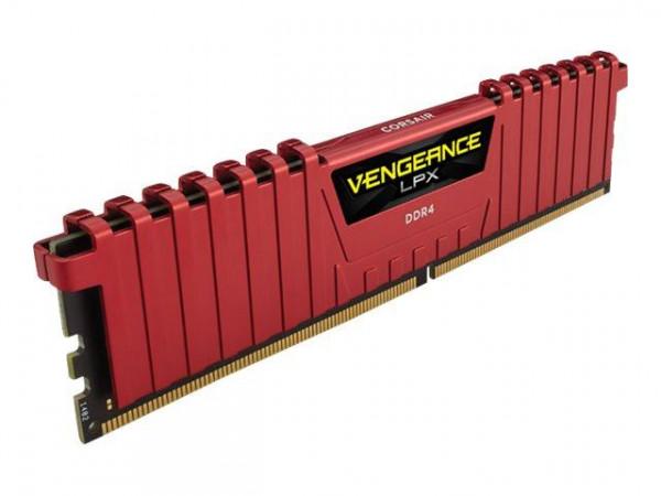 Corsair Vengeance LPX - 16GB - DDR4 - rot