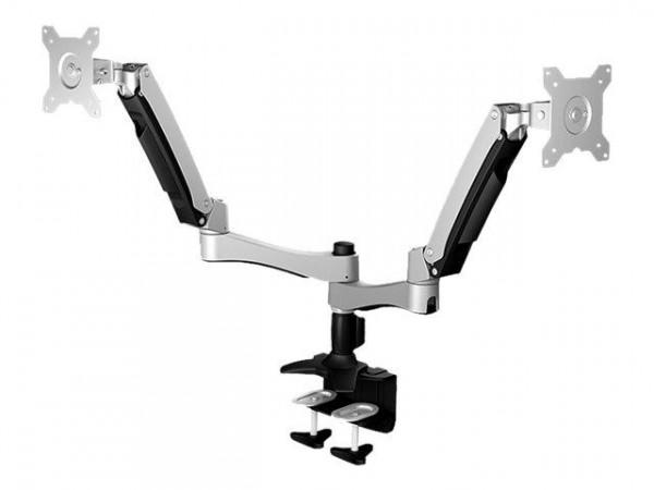 """Monitor Arm IcyBox 2 Monitore bis zu 24""""/10kg neig&schw"""