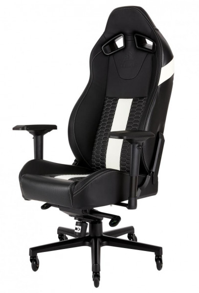 CORSAIR Gaming Stuhl Corsair T2 Road Warrior schwarz/weiß