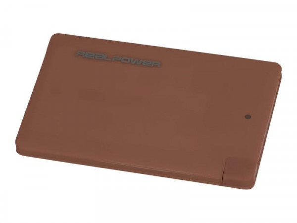 Powerbank RealPower PB2500 2500mAh marsala
