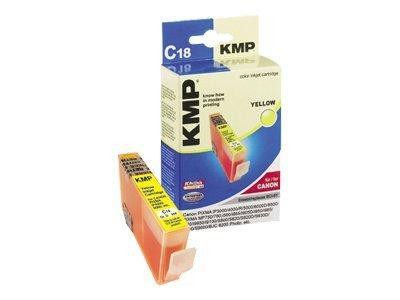 KMP C18 - 17 ml - Gelb - Tintenpatrone (Alternative zu: Canon BCI-6Y)