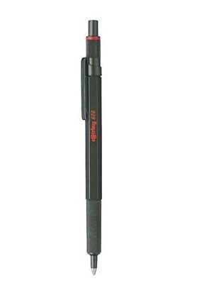 ROTRING Kugelschreiber 600 Metallic-Dunkelgrün M Blau