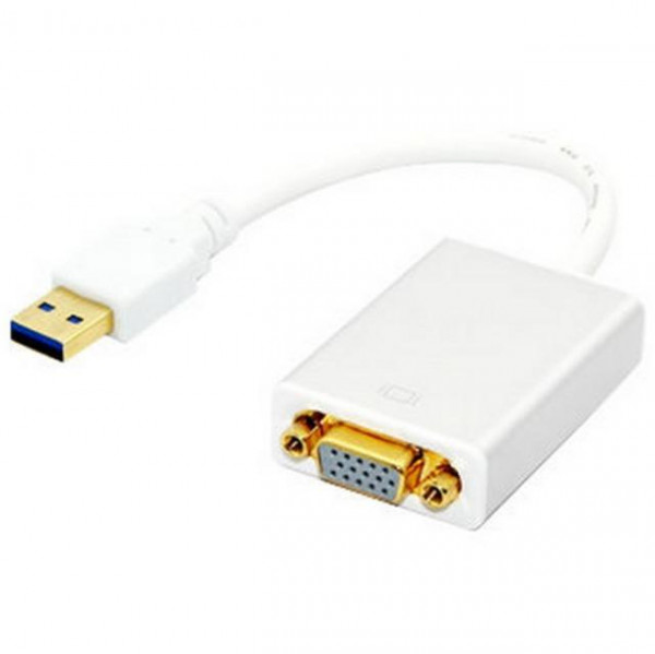 TECHLY USB 3.0 Konverter / Adapter auf VGA, weiss