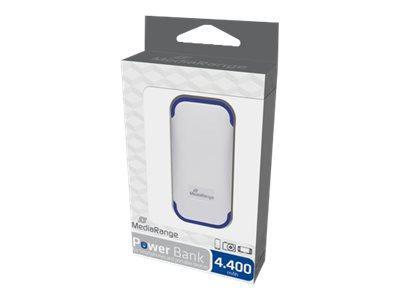 MEDIARANGE Power Bank - Powerbank - 4400 mAh - 2 Ausgabeanschlussstellen (USB)
