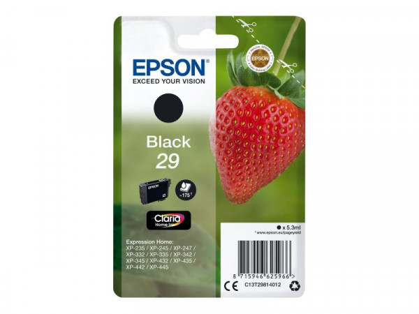 Patrone Epson 29 Expression Home XP black T2981 5,3ml