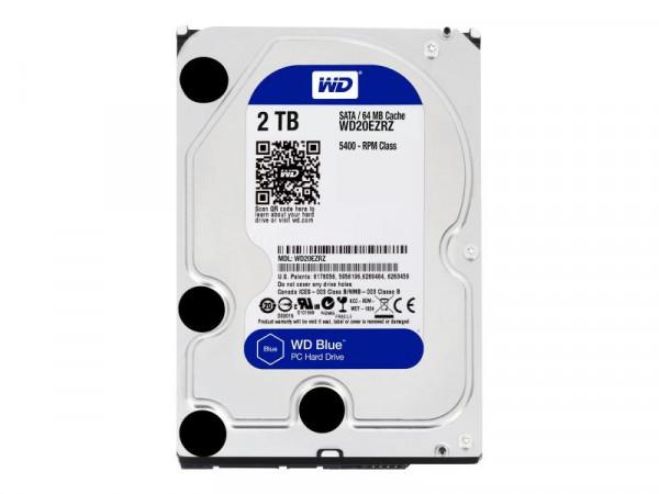 "WD 8.9cm (3.5"") 2TB SATA3 WD20EZRZ 5400 64MB Blue"
