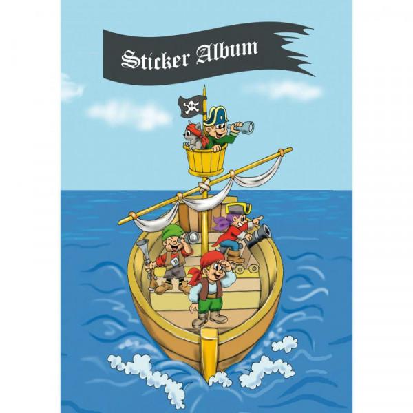 HERMA Sticker Sammelalbum für Kids Piratenabenteuer A5