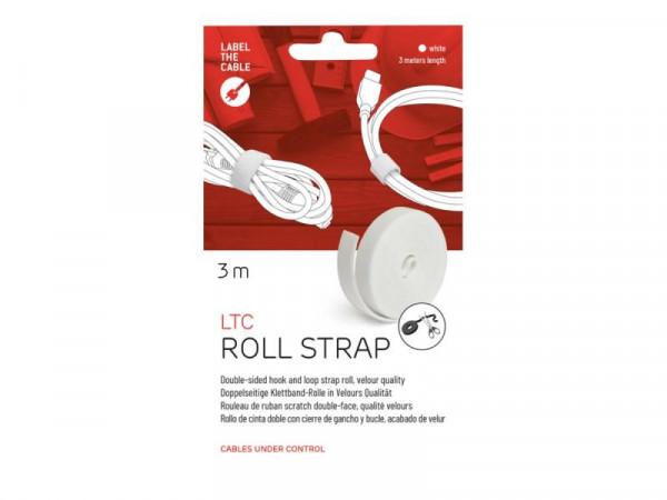 Klettrolle LTC Roll 3m zum Bündeln&Ordnen von Kabeln weiß