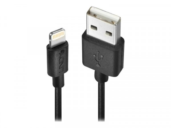 Lindy USB an Lightning Kabel schwarz 3m