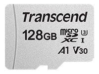 SD microSD Card 128GB Transcend SDHC USD300S-A w/Adapter