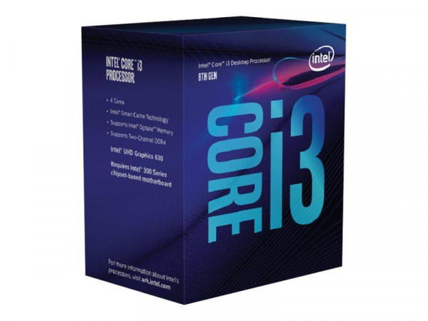 Intel Core i3 8100 1151 4x3,6GHz 6MB boxed
