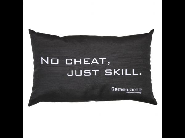 "Gamewarez Gaming Kissen ""NoCheatJustSkill"" schwarz"